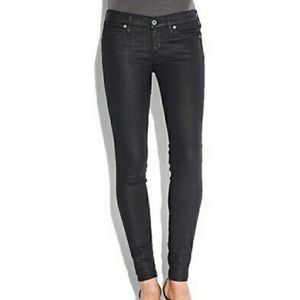Lucky Brand Charlie Skinny Jean Waxed Black 2 / 26